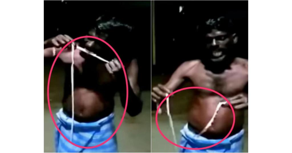 Man arrested after posting viral video of him eating a snake